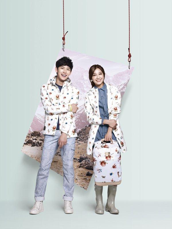 사진   L'acteur et membre du groupe ZE:A ,   Im Siwan et l'actrice Jung Eunji ,du groupe Apink pose pour   M-Limited - 2015     박형식