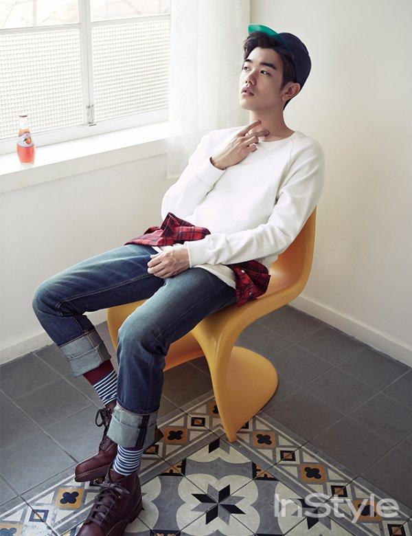 사진   Le chanteur solo et présentateur TV,  Eric Nam   pose pour   InStyle, Mars 2015       에릭남