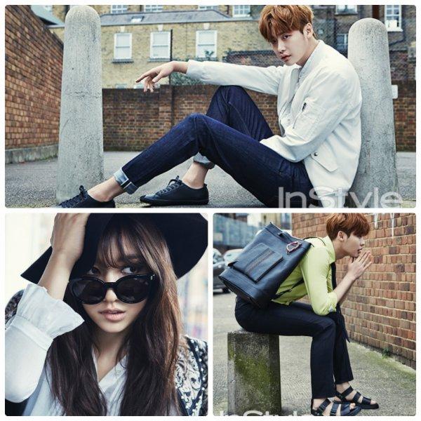 사진   Les acteurs Park Shin Hye et  Lee JongSuk  posent pour InStyle  Avril 2015   박신혜 & 이종석