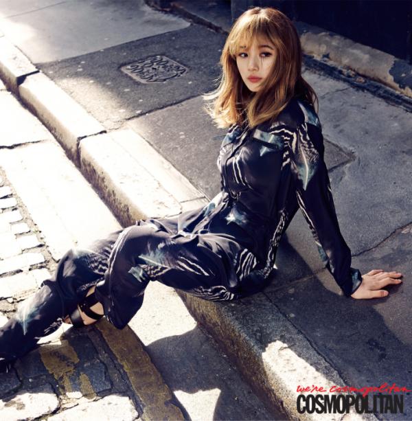 사진     Bae Suzy du groupe Miss A   pour  Cosmopolitan, avril  2015