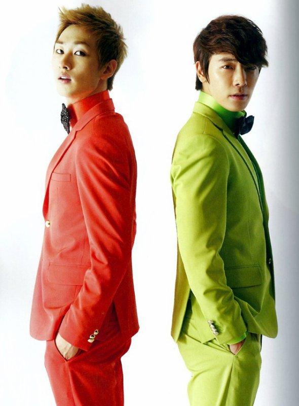 사진   Eunhyuk  & Donghae du groupe Super Junior  pour   Oppa Oppa, single    Une demande de  Mystery-6 (Juliette)
