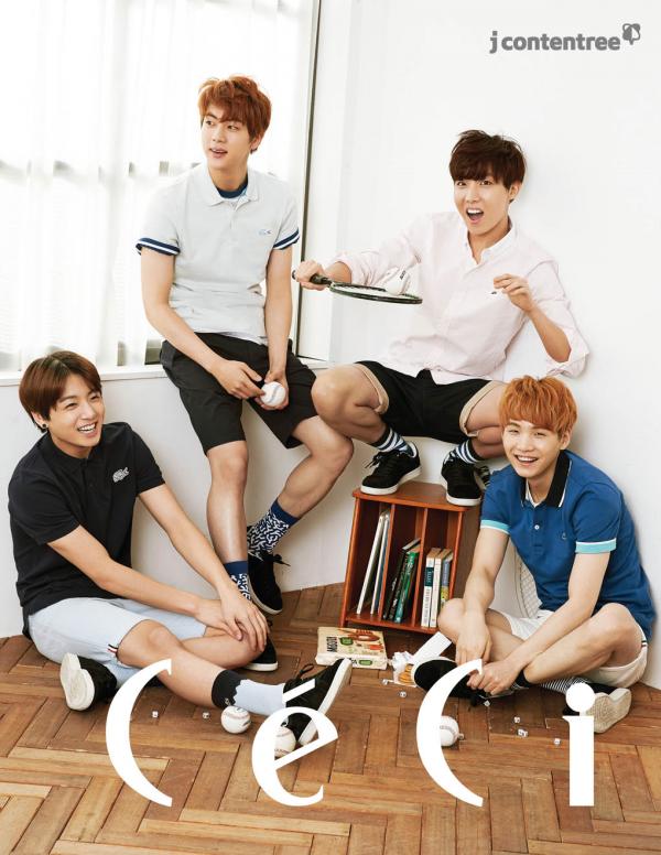 사진   Le groupe BTS  pour   CéCi  , mai 2015