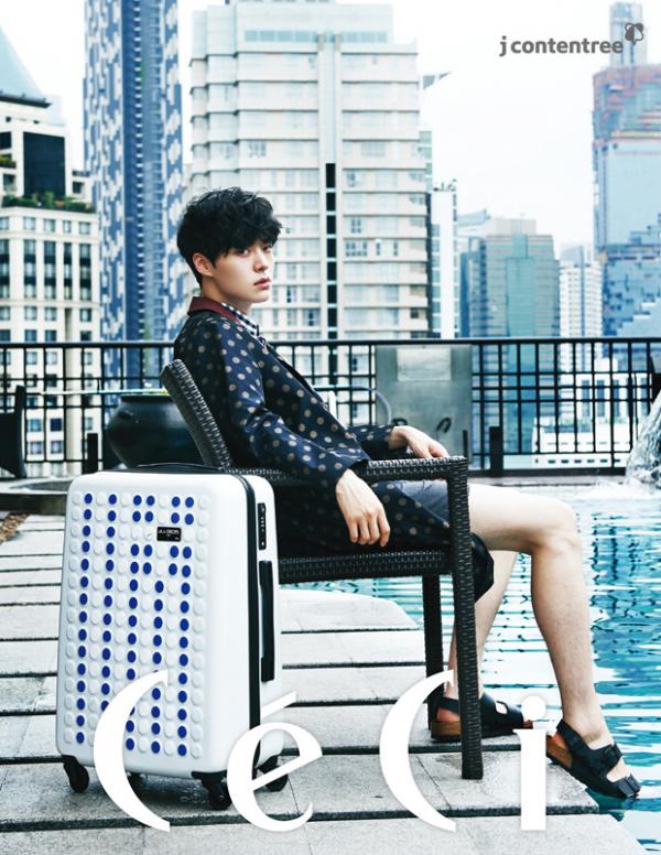 사진   L'acteur Ahn Jaehyun  pose pour  CéCi, Juin 2015    안재현
