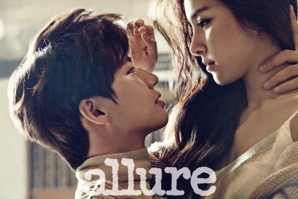 """사진     L'acteur -mannequin  Song Jae rim  et  Kim So Eun   pour """"Allure, Décembre 2014""""    Une demande de KoreanSongs"""