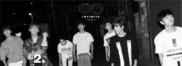 사진     Le  groupe  INFINITE  pour leur mini-album Reality