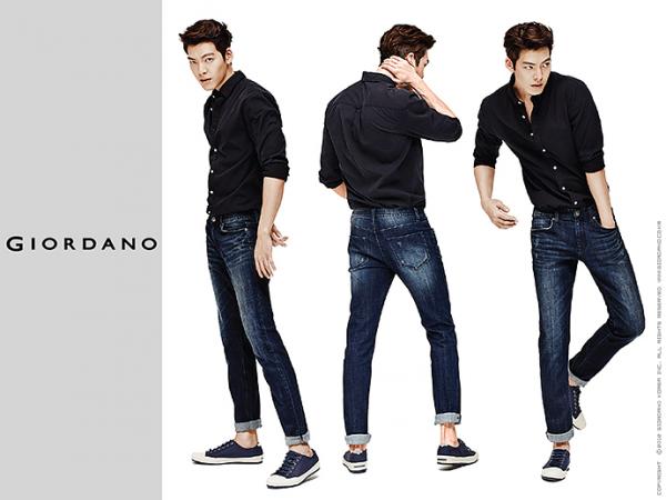 L'actrice Shin Min Ah et l'acteur, mannequin Kim Woo Bin pour Giordano, collection Automne 2015