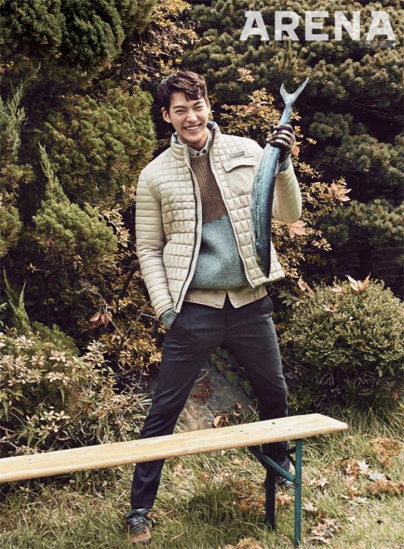 Kim Woo Bin pour Arena homme +, octobre 2015