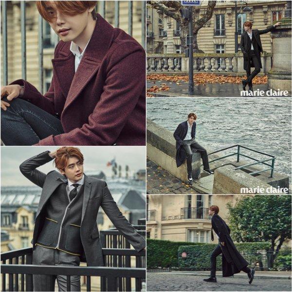 Lee Jong Suk pour Marie Claire, édition décembre 2015