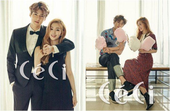 "Sehun (EXO) et Irene (Red Velvet) posent pour ""CéCi"" _ Février 2016"