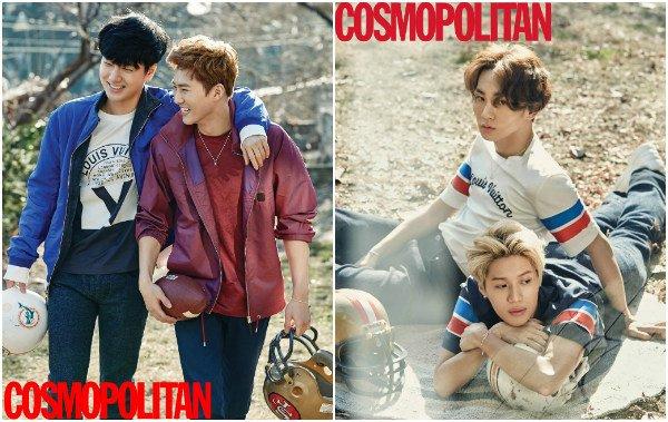 Taemin (SHINee), Suho (EXO), Yesung (Super Junior) et Key (SHINee) pour COSMOPOLITAN KOREA _ Février 2016
