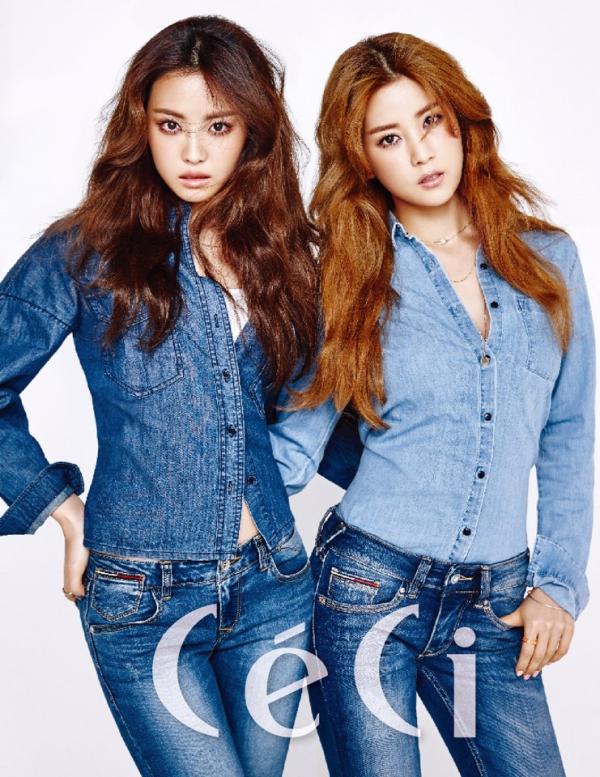 Na Eun et Chorong de Apink pour CéCi (mars 2016)
