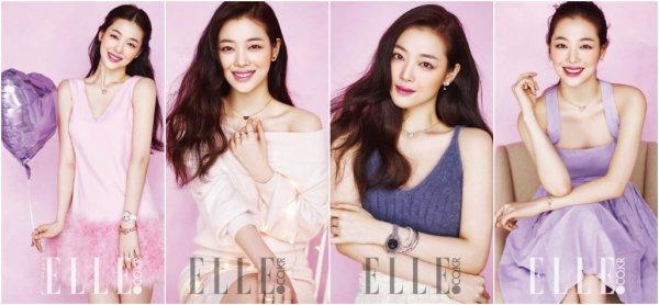 Choi Sulli pour ELLE Korea (mars 2016)