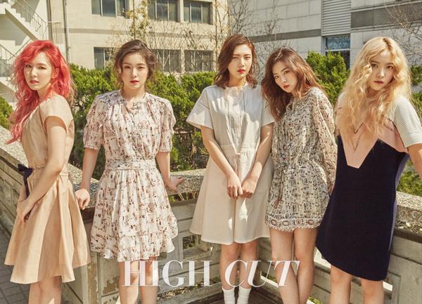 Le groupe Red Velvet pose pour Hight Cut vol. 171