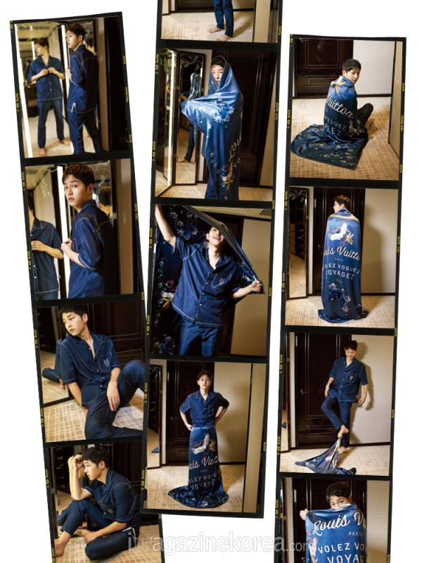 L'acteur Song Joong ki pose pose pour Harper's bazaar Korea, édition mai 2016