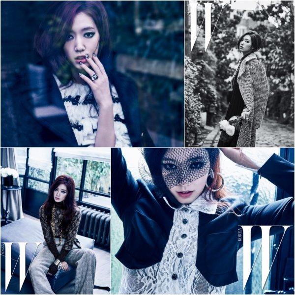 L'actrice Park Shin Hye pour W Korea - mai 2016