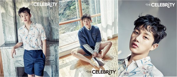 L'acteur Kim Min Suk pose pose pour The Celebrity, édition mai 2016