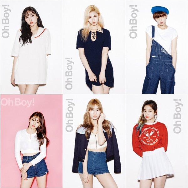 Le groupe Twice pour  Oh! Boy , édition mai 2016