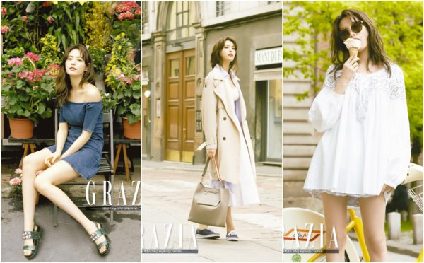 La membre des After School; Nana dans Grazia, mai 2016