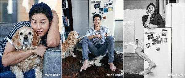L'acteur Song Joong ki pose  pour Marie Claire, édition juin 2016