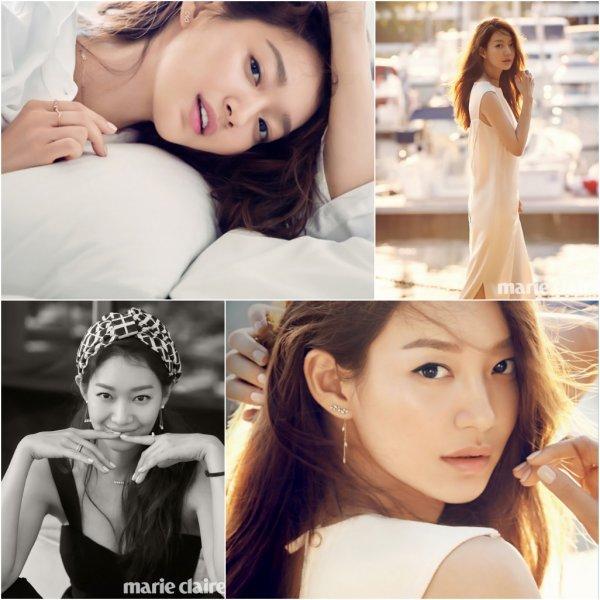 Shin Min ah pour Marie Claire, août 2016