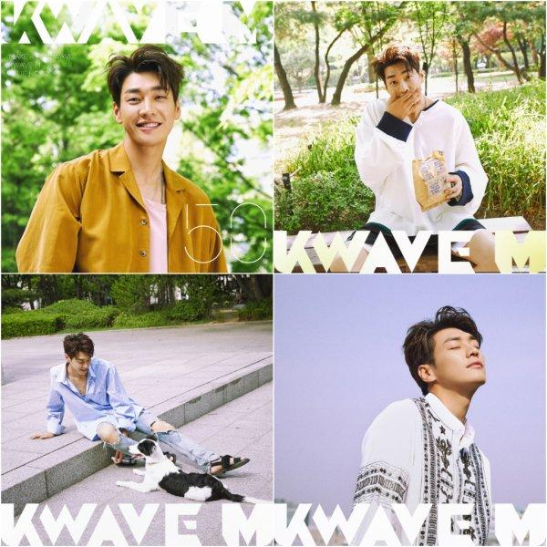 L'acteur et mannequin Kim Young Kwang pose pour  K Wave M, juillet 2017