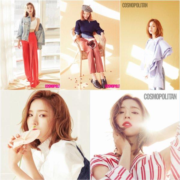 L'actrice Shin Se Kyung pose pour Cosmopolitan Korea, juillet 2017
