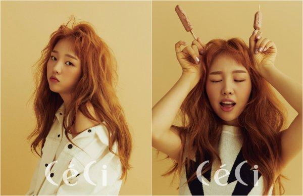 La chanteuse solo, Baek Ah Yeon pour Céci, juillet 2017