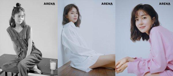 L'actrice Baek Jin Hee pour Arena Homme plus Korea, édition août 2018