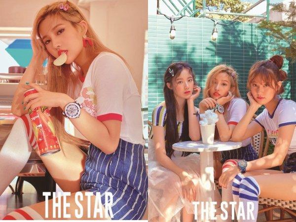 Le nouveau groupe (G)I-DLE en couverture pour le magazine The Star, édition août 2018