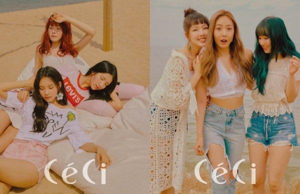 Le groupe GFriend pour le magazine CéCi, édition 2018