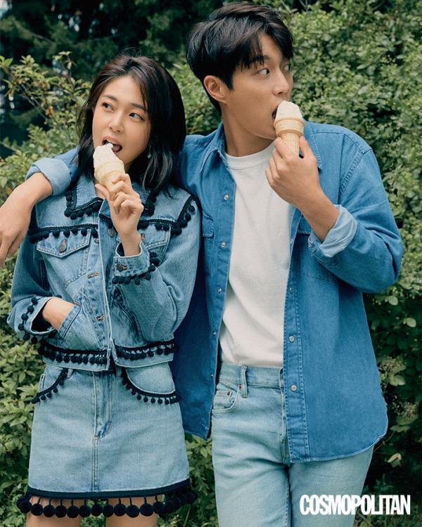 Baek Jin Hee & Yoon Doojoon (Highlight) pour Cosmopolitan Korea, édition Juillet 2018