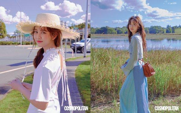 L'actrice Kim So Hyun dans Cosmopolitan Korea, juillet 2018