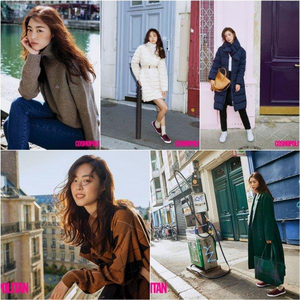 L'actrice Lee Yeon Hee pose pour Cosmopolitan Korea à Paris - Décembre 2018