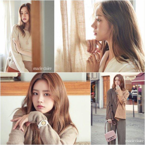 Hyeri du groupe Girl's Day était aussi à Paris pour Marie Claire Korea, édition décembre 2018