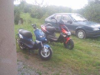 mon scooter et celui de mon chéri