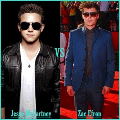 ''' Jesse McCartney ' vs ' Zac Efron '''