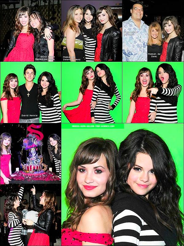 Ré-découvez Demi à l'anniversaire de Selena pour ces 16 ans. Top ou Flop ?