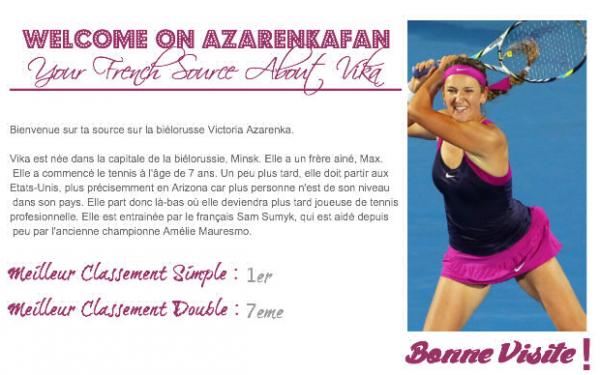 ◊  Bienvenue sur ta source sur Victoria Azarenka ◊