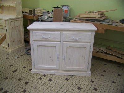 Voici le meuble de t l avec la finition la lasure blanc - Vieux meuble a retaper ...