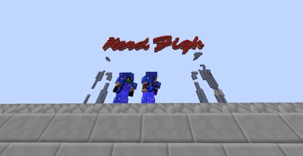 """Moi a droite et mon ami à gauche sur un serveur qui se nomme """" HardFight! """""""