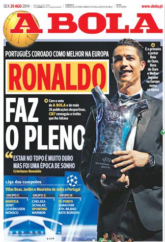 Cristiano Ronaldo élu meilleur joueur UEFA de l'année !