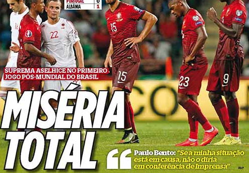 Qualifications Euro 2016 : Portugal 0-1 Albanie : L'HUMILIATION TOTALE !