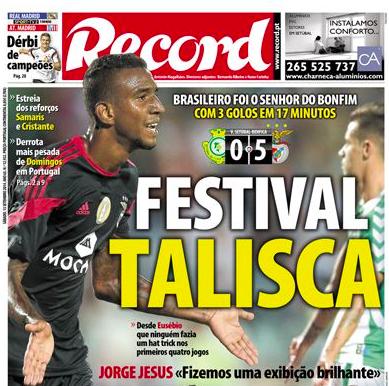 Primeira Liga (Championnat Portugais) 2014-2015 - 4ème journée