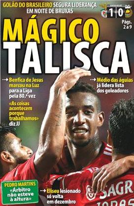 Primeira Liga (Championnat Portugais) 2014-2015 - 9ème journée