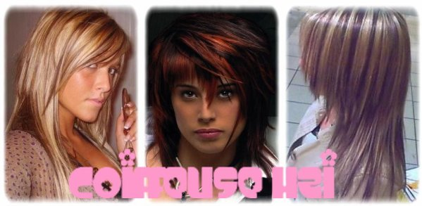 Meches fashiion coupe - Meches blondes sur brune ...