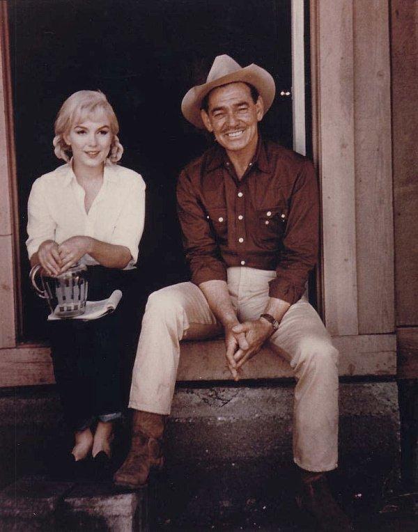 1961, Marilyn aux côtés de Clark GABLE, dans le film