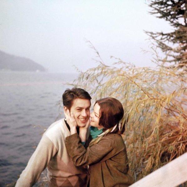 Alain delon et romy schneider ici en 1959 60 couple for La piscine film