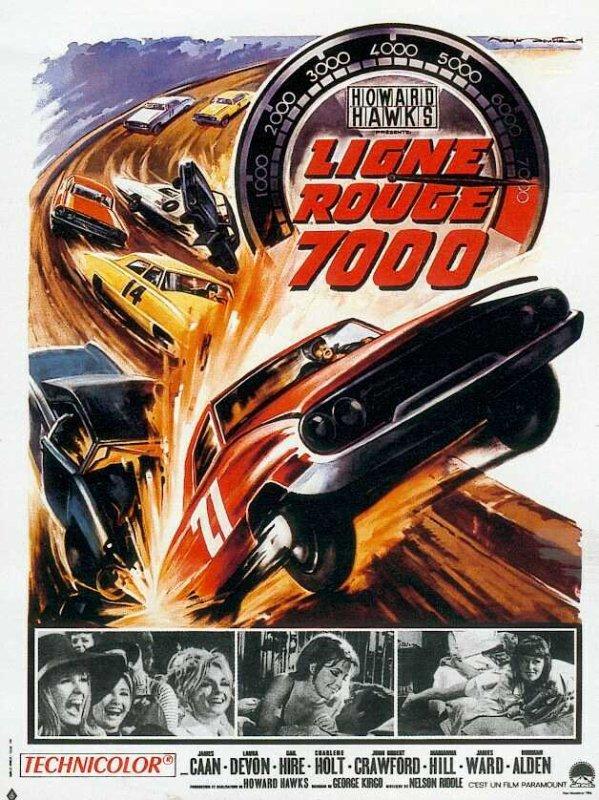 """On commence par ces 2 films, """"Ligne rouge 7000"""" en 1965, du fameux Howard HAWKS... Aux Etats-Unis, le grand prix de Daytona réunit les plus grands coureurs automobiles du pays. Parmi eux, Jim Loomis, grand champion, vainqueur de nombreuses courses. Sur le point de se marier, Loomis sympathise avec Mike Marsh, coureur lui aussi. Il lui confie que la femme qu'il aime doit venir le rejoindre le surlendemain. Le destin va en décider autrement. ; Le second film, en 1974, est de Karel REISZ, """"Le flambeur""""... Alex Freed est un professeur de littérature qui a un vice : le jeu. Un vice qui lui fait perdre tout son argent, sa petite amie et l'affection de ses proches. Une descente aux enfers qui ne l'empêche pourtant pas de continuer à dépenser son argent aux tables de jeux... (affiches et photos des 2 films respectifs)."""