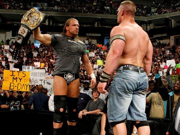 WWE RAW Triple H John Cena