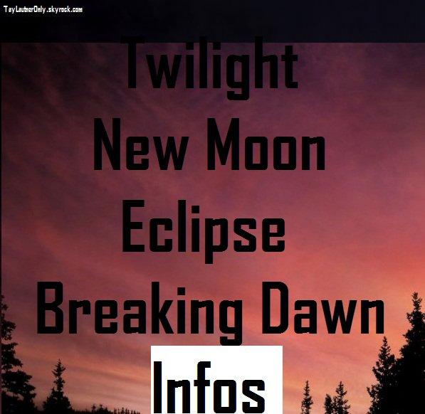Les infos dévoilés sur : Twilight Chapitre 5 Révélation partie 2.